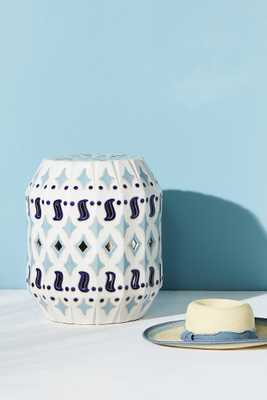 Solomon Ceramic Indoor/Outdoor Side Table - Anthropologie