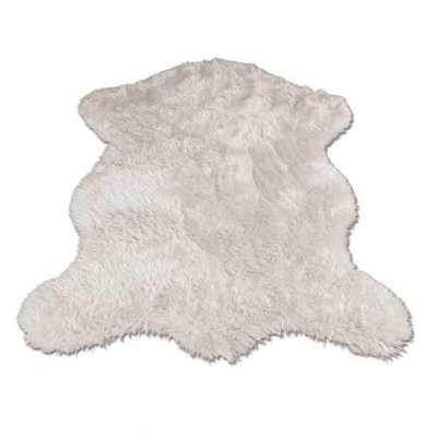 Ahamed Polar Bear Pelt White Area Rug - AllModern