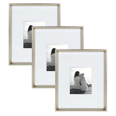 Calter 16x20 matted to 8x10 Silver Picture Frame (Set of 3) - Home Depot