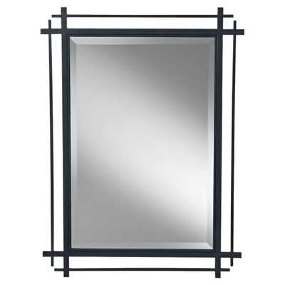 Feiss Ethan Rectangle Antique Forged Iron Wall Mirror - Home Depot