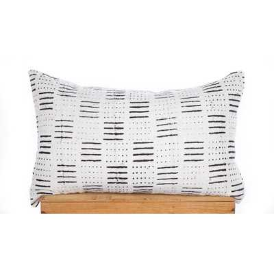 Dots and Dashes Print African Mud Cloth Pillow Cover - Wayfair