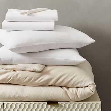 Belgian Flax Linen Bedding Set, Natural, Full - West Elm