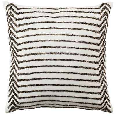 Emilia Stripe Pillow, Whites - Home Depot