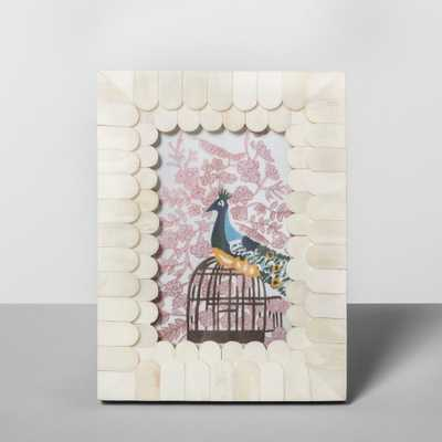 "4""x6"" Scalloped Pieced Bone Frame - Opalhouse - Target"