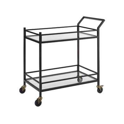 Chesterfield Bar Cart - Bronze - AllModern