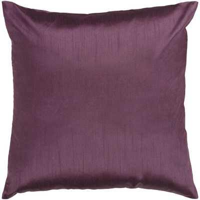 Visoko Poly Euro Pillow, Purple - Home Depot