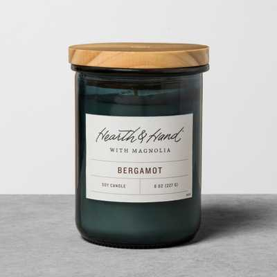 8oz Lidded Jar Container Candle - Bergamot - Hearth & Hand with Magnolia, White - Target