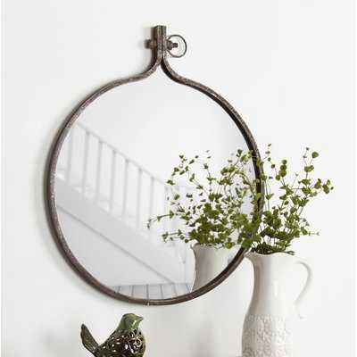 Kinley Round Metal Framed Wall Mirror - Wayfair