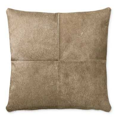 """Solid Hide Pillow Cover, 20"""" X 20"""", Brown - Williams Sonoma"""
