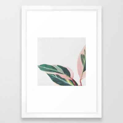 Pink Leaves II Framed Art Print by Cassiabeck - Society6