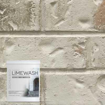 ROMABIO 1 qt. Nube Gray Limewash Interior/Exterior Paint, Grays - Home Depot