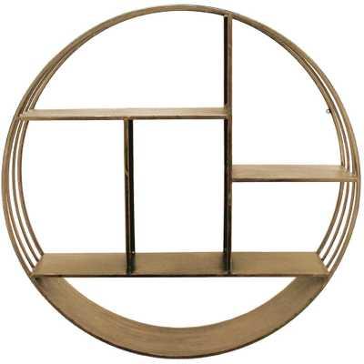 Brooklyn Gold Circular Shelf - Home Depot