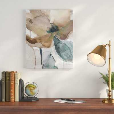 'Watercolor Poppy I' Painting Print on Wrapped Canvas - Wayfair