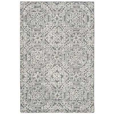 Sulema Hand-Tufted Wool Gray/Beige Area Rug - Wayfair