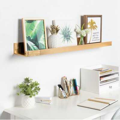 Pettine Deep Wood Floating Wall Shelf - Wayfair