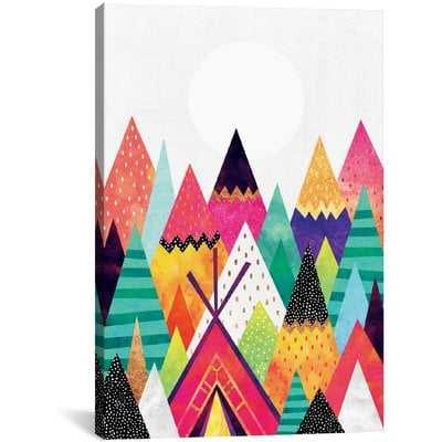'Land of Color' Graphic Art on Wrapped Canvas - Wayfair