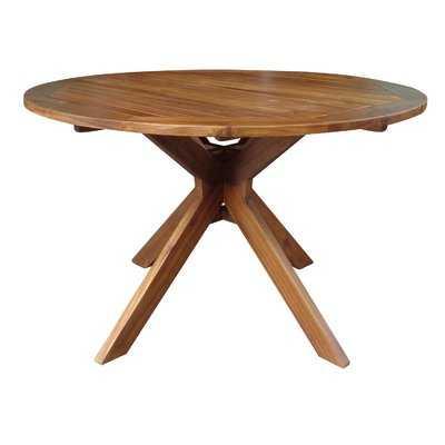 Kaylie Wood Round Dining Table - Wayfair