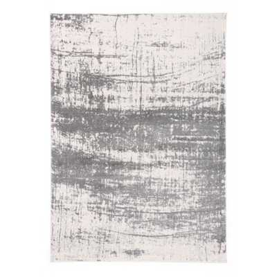 """World Rug Gallery Distressed Modern Abstract Design Area Rug 7'10"""" x 10' Gray - Home Depot"""