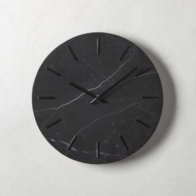 Carlo Black Marble Wall Clock - CB2