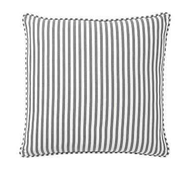 "Catalina Stripe Pillow Cover, 18"", Gray - Pottery Barn"