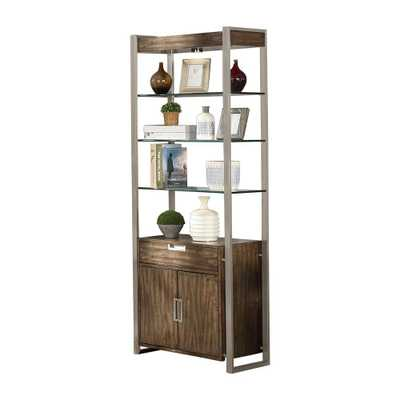 Soho Birch Brown and Grey Standard Bookcase, Brown/Grey Finish - Home Depot
