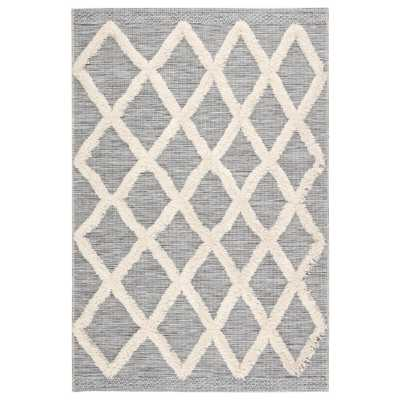 Jaipur Living Parades Trellis 8 ft. 9 in. x 12 ft. 5 in. Gray Area Rug, Gray/Ivory - Home Depot