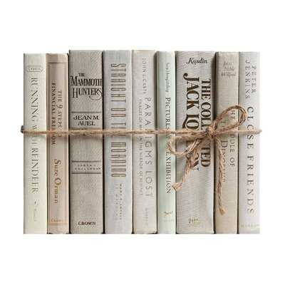 Authentic Decorative Books - By Color Modern Beach ColorPak (1 Linear Foot, 10-12 Books) - Wayfair
