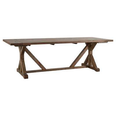 Walton Park Reclaimed Wood Farmhouse Trestle Dining Table - Reclaimed Pine - Inspire Q - Target