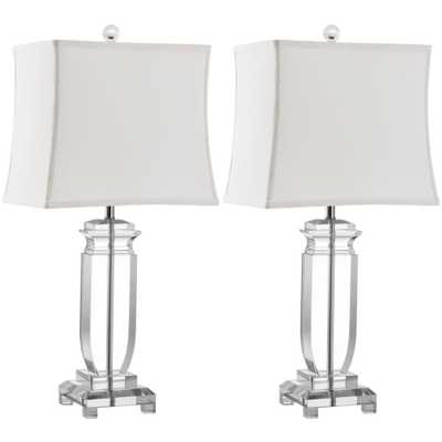 Safavieh Olympia 24 in. Clear Crystal Table Lamp (Set of 2) - Home Depot