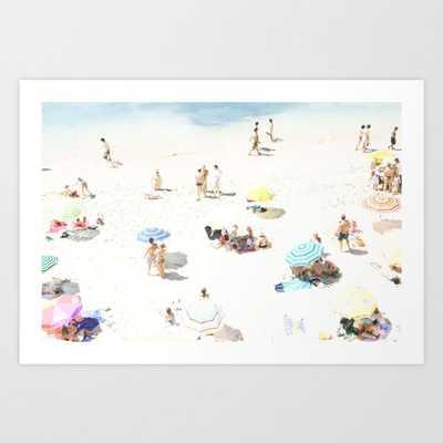 beach XXI Art Print - Large by Ingz - Society6