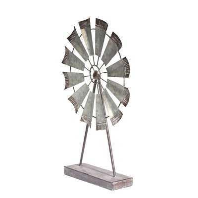 Metal Windmill Table Sculpture - Birch Lane