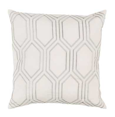 Sylvia Hollywood Regency Linen Down Ivory Pillow - 20x20 - Kathy Kuo Home