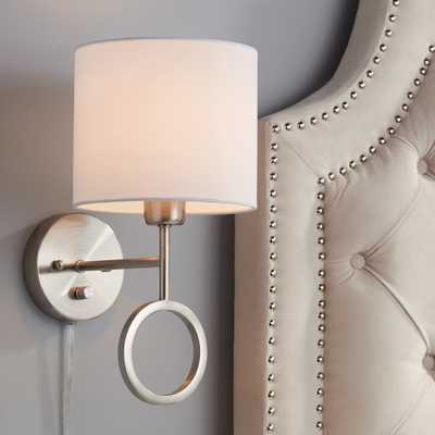 Amidon Brushed Nickel Drop Ring Plug-In Wall Lamp - Style # 46R97 - Lamps Plus