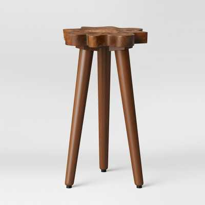 Buckland Live Edge Accent Table Brown - Threshold - Target