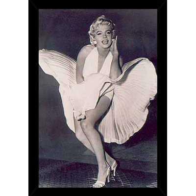 'Monroe - The Legend' Rectangle Wood Framed Graphic Art Print Poster - Wayfair