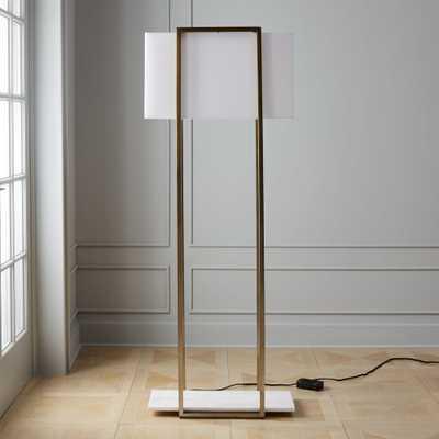 Dauphine Marble Floor Lamp - CB2
