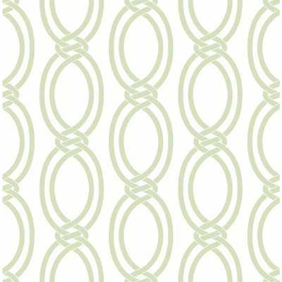 Infinity Light Green Geometric Stripe Wallpaper Sample - Home Depot
