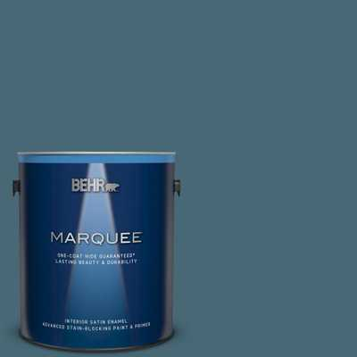 BEHR MARQUEE 1 gal. #S470-6 Shipwreck Satin Enamel Interior Paint and Primer in One - Home Depot