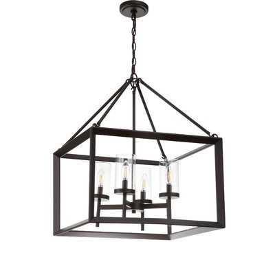Powell 4-Light Square/Rectangle Chandelier - Wayfair