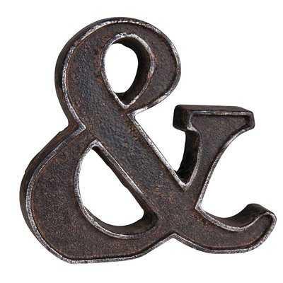 Rustic Ampersand Letter Block - Wayfair