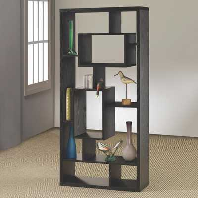 Lester Black Bookcase - Home Depot