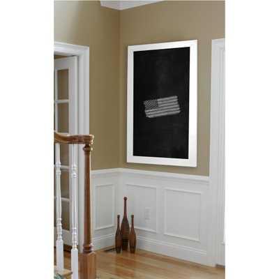 Rayne Mirrors 48 in. x 36 in. White Satin Wide Blackboard/Chalkboard, Satin White - Home Depot