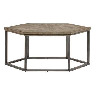 Progressive Furniture Adison Cove Ash Blonde Hexagon Cocktail Table - Home Depot