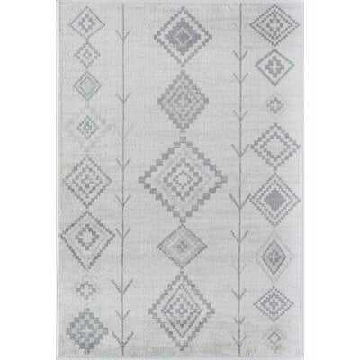 Kahita Gray Area Rug - 8 x 10 - Wayfair