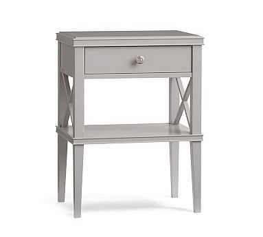 Clara Lattice Nightstand, Gray - Pottery Barn