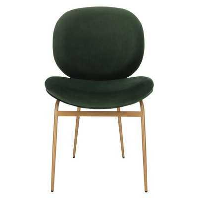Vilonia Upholstered Dining Chair- Malachite Green- Set of 2 - Wayfair