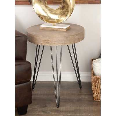Metal/Wood End Table - Wayfair