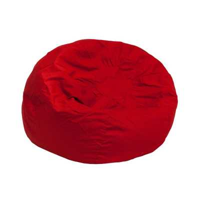 Small Solid Red Kids Bean Bag Chair - Home Depot