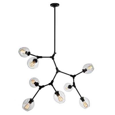 ARTCRAFT 8-Light Black Chandelier - Home Depot