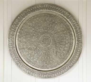 "Decorative Metal Disc, 38"", Silver - Pottery Barn"